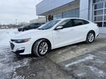 White[Iridescent Pearl Tricoat] 2019 Chevrolet Malibu LT Left Front Corner Photo in Calgary AB