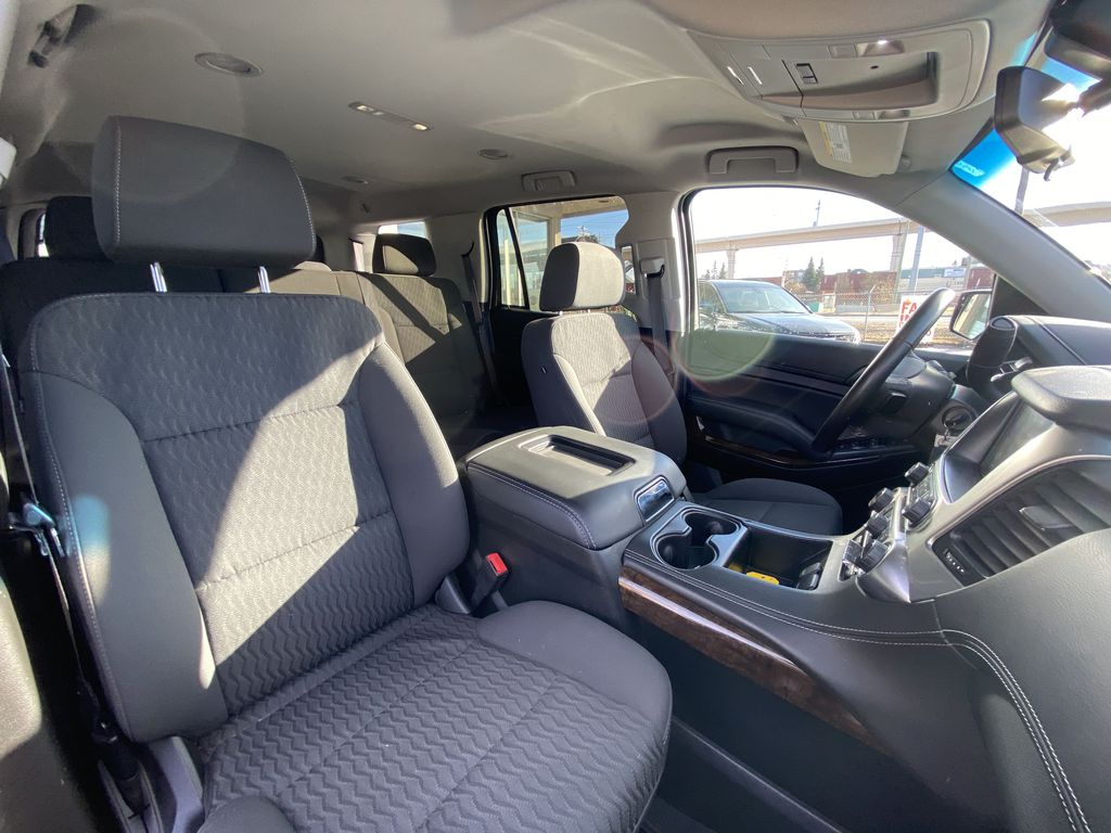 Gray[Satin Steel Metallic] 2019 Chevrolet Tahoe LS Right Side Front Seat  Photo in Calgary AB