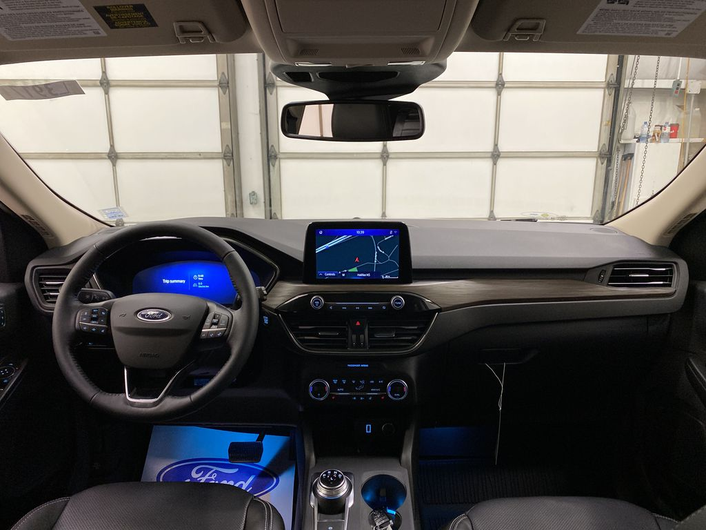 Blue[Blue Metallic] 2020 Ford Escape Strng Wheel/Dash Photo: Frm Rear in Dartmouth NS