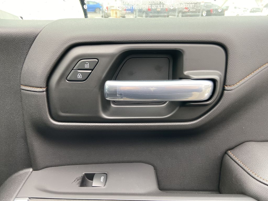 Black[Onyx Black] 2021 GMC Sierra 1500 AT4 Passenger Front Door Controls Photo in Calgary AB