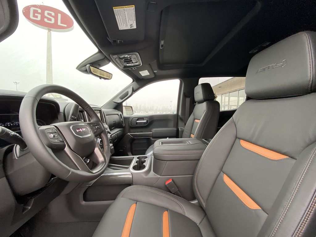 Black[Onyx Black] 2021 GMC Sierra 1500 AT4 Left Front Interior Photo in Calgary AB