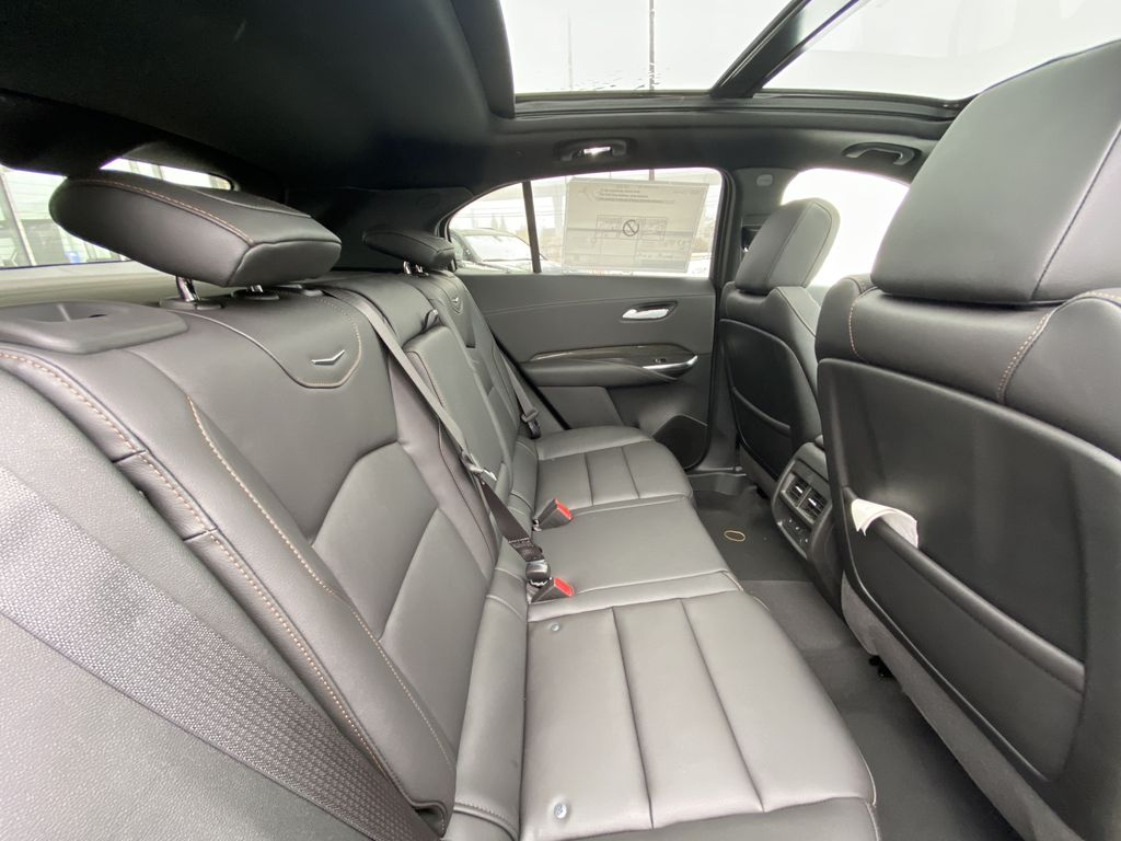 Gray[Shadow Metallic] 2021 Cadillac XT4 Sport Right Side Rear Seat  Photo in Calgary AB