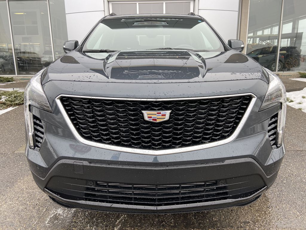 Gray[Shadow Metallic] 2021 Cadillac XT4 Sport Front Vehicle Photo in Calgary AB