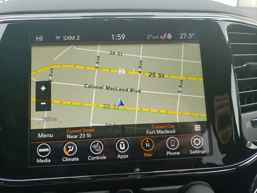 White 2021 Jeep Grand Cherokee Center Console Photo in Fort Macleod AB