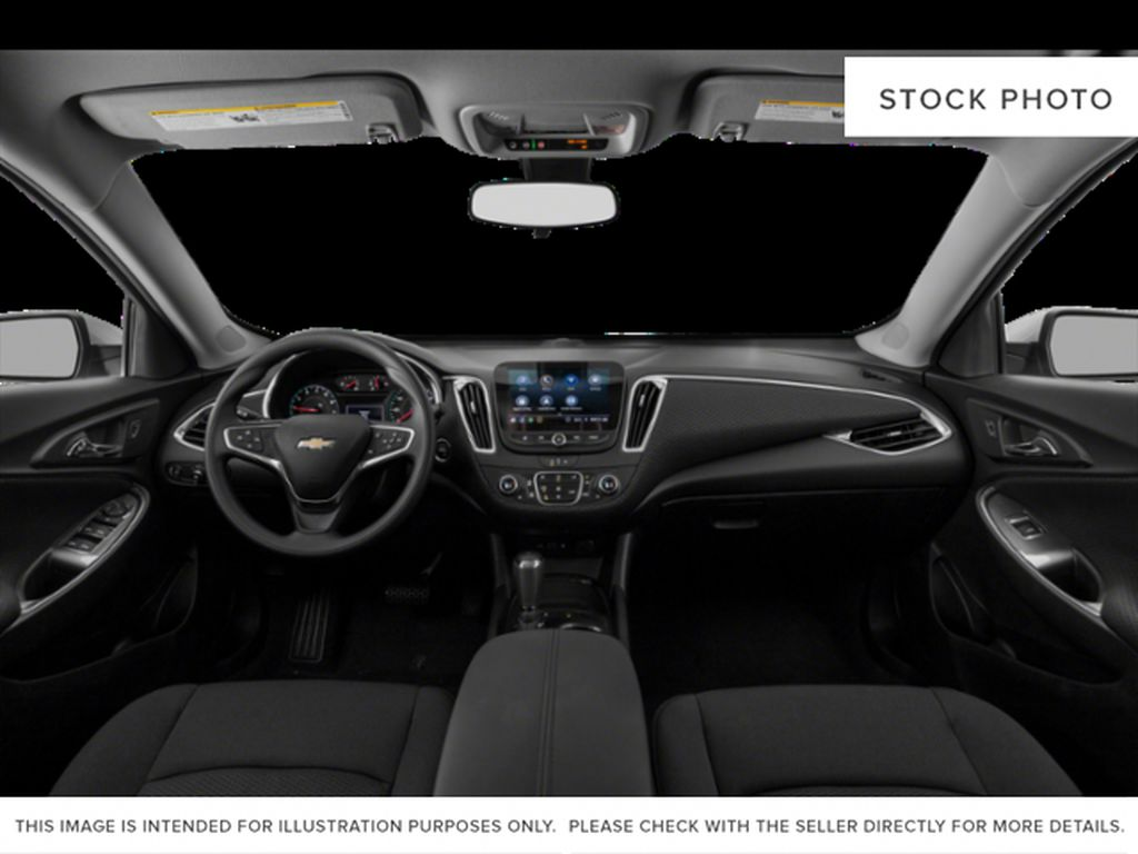 White[Summit White] 2021 Chevrolet Malibu Front Seats and Dash Photo in Portage La Prairie MB