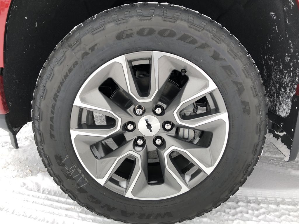 Red[Cherry Red Tintcoat] 2021 Chevrolet Silverado 1500 Left Front Rim and Tire Photo in Edmonton AB
