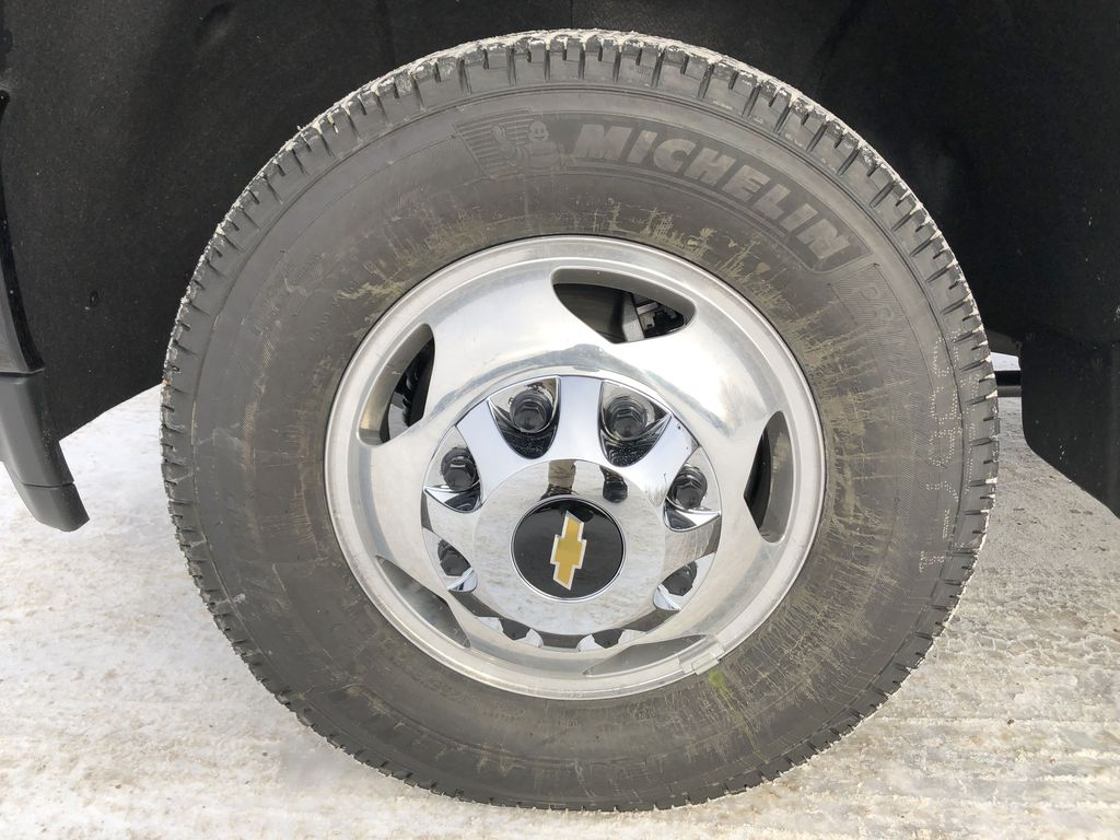 Black[Black] 2021 Chevrolet Silverado 3500HD Left Front Rim and Tire Photo in Edmonton AB