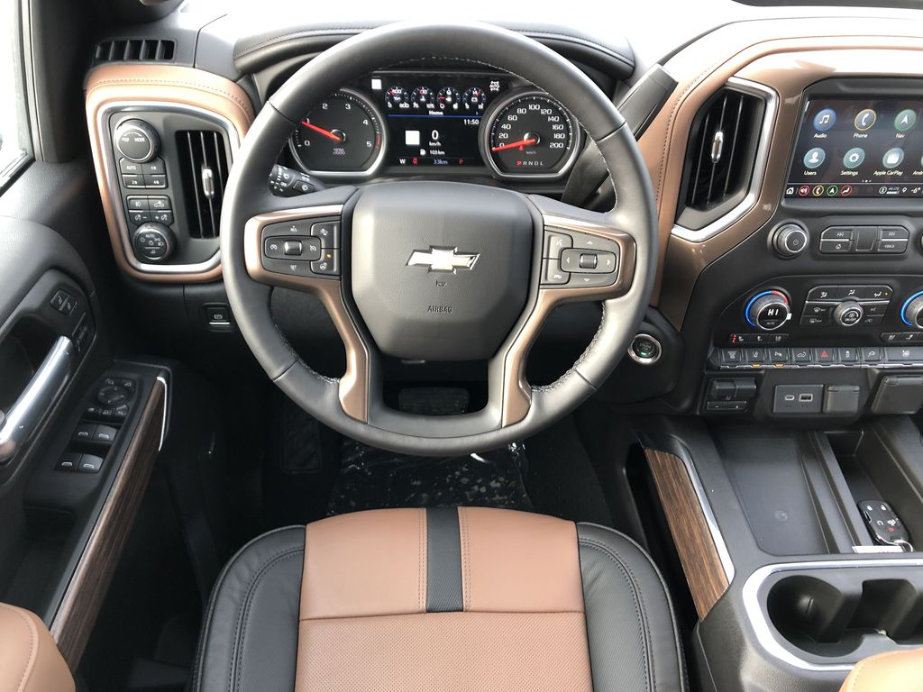 Black[Black] 2021 Chevrolet Silverado 3500HD Strng Wheel/Dash Photo: Frm Rear in Edmonton AB