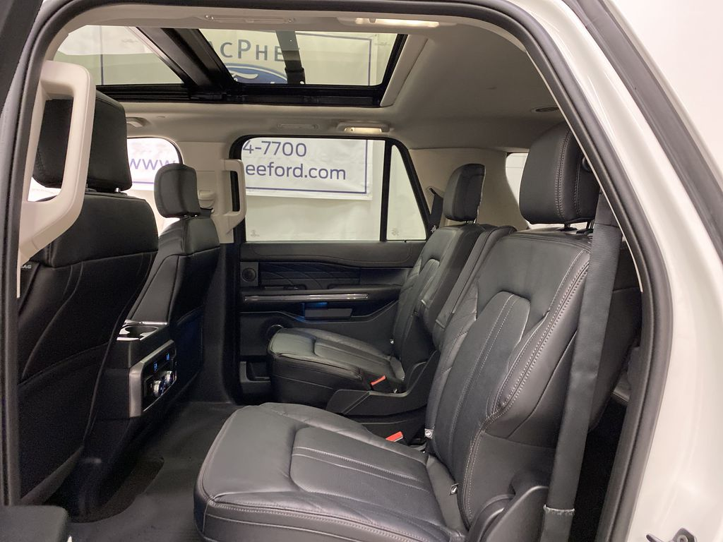 White[Star White Platinum Metallic Tri-Coat] 2020 Ford Expedition Left Side Rear Seat  Photo in Dartmouth NS