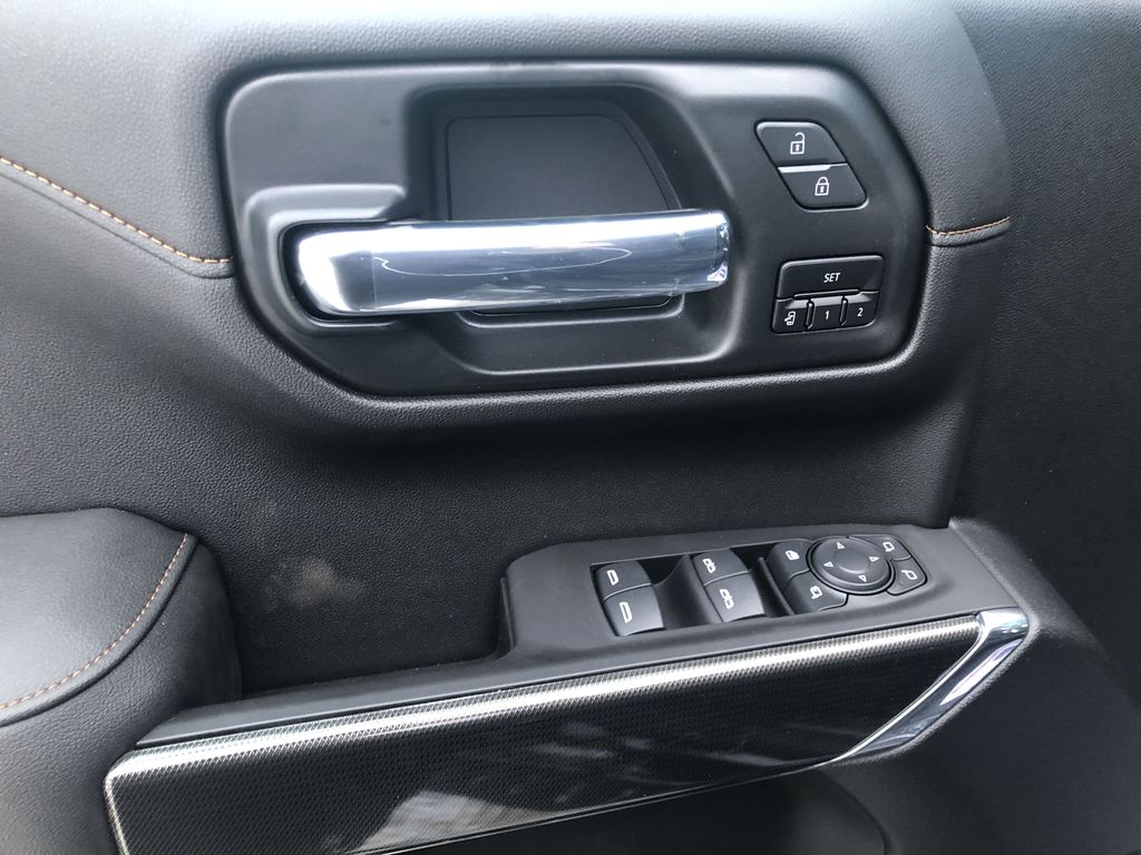 Black[Ebony Twilight Metallic] 2021 GMC Sierra 1500 AT4  Driver's Side Door Controls Photo in Canmore AB