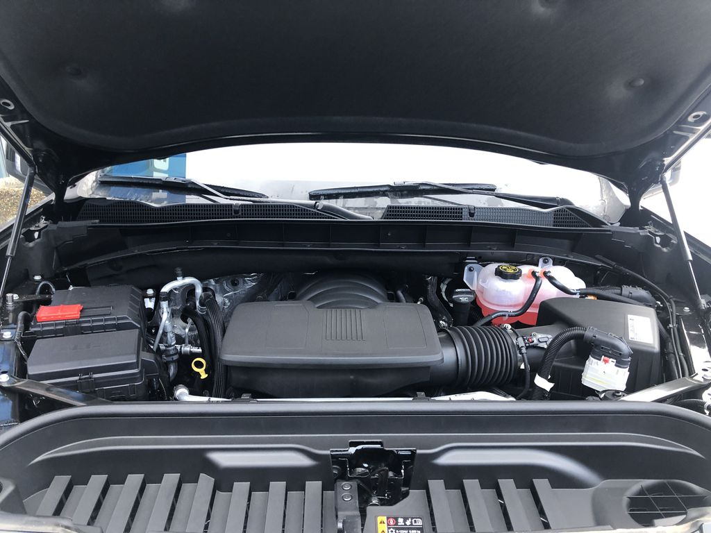 Black[Ebony Twilight Metallic] 2021 GMC Sierra 1500 AT4 Engine Compartment Photo in Canmore AB