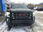 Black[Ebony Twilight Metallic] 2021 GMC Sierra 1500 AT4 Front Vehicle Photo in Canmore AB