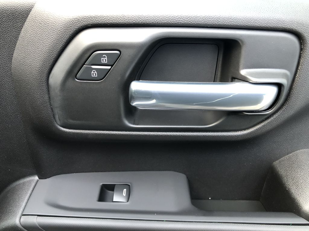 Silver[Silver Ice Metallic] 2021 Chevrolet Silverado 1500 Custom Passenger Front Door Controls Photo in Canmore AB