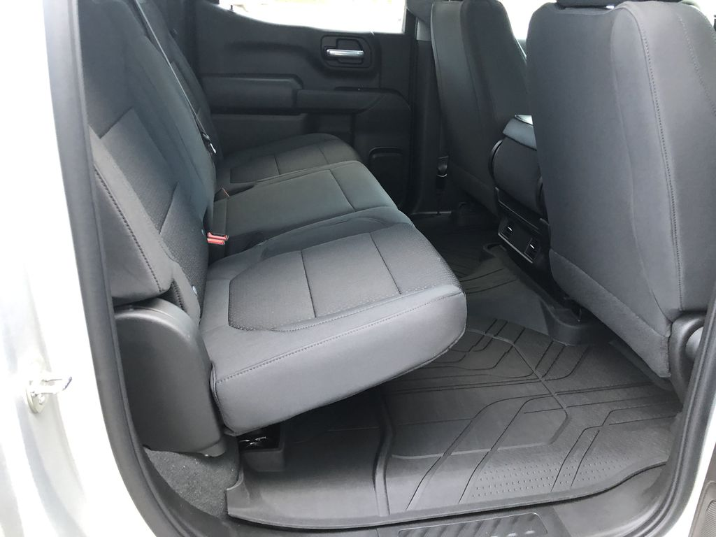 Silver[Silver Ice Metallic] 2021 Chevrolet Silverado 1500 Custom Right Side Rear Seat  Photo in Canmore AB