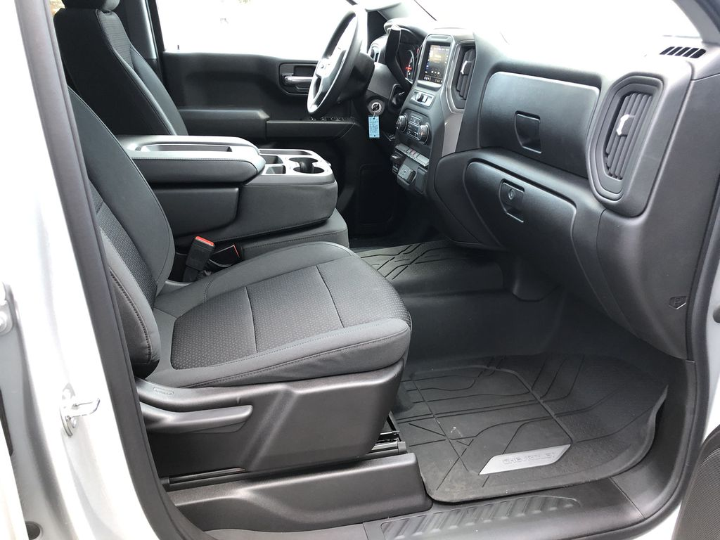 Silver[Silver Ice Metallic] 2021 Chevrolet Silverado 1500 Custom Right Side Front Seat  Photo in Canmore AB
