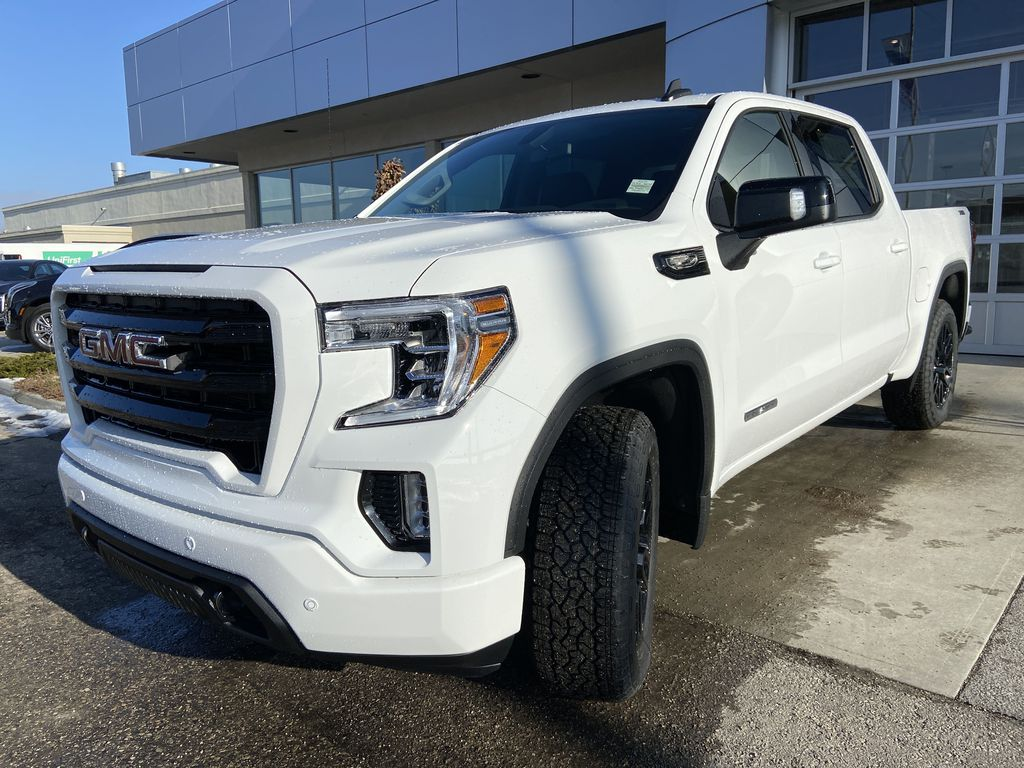 White[Summit White] 2021 GMC Sierra 1500 Elevation Left Front Head Light / Bumper and Grill in Calgary AB