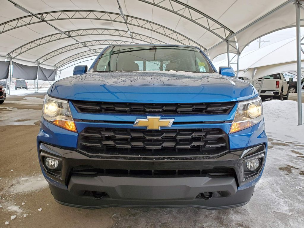 Blue 2021 Chevrolet Colorado Left Front Corner Photo in Airdrie AB