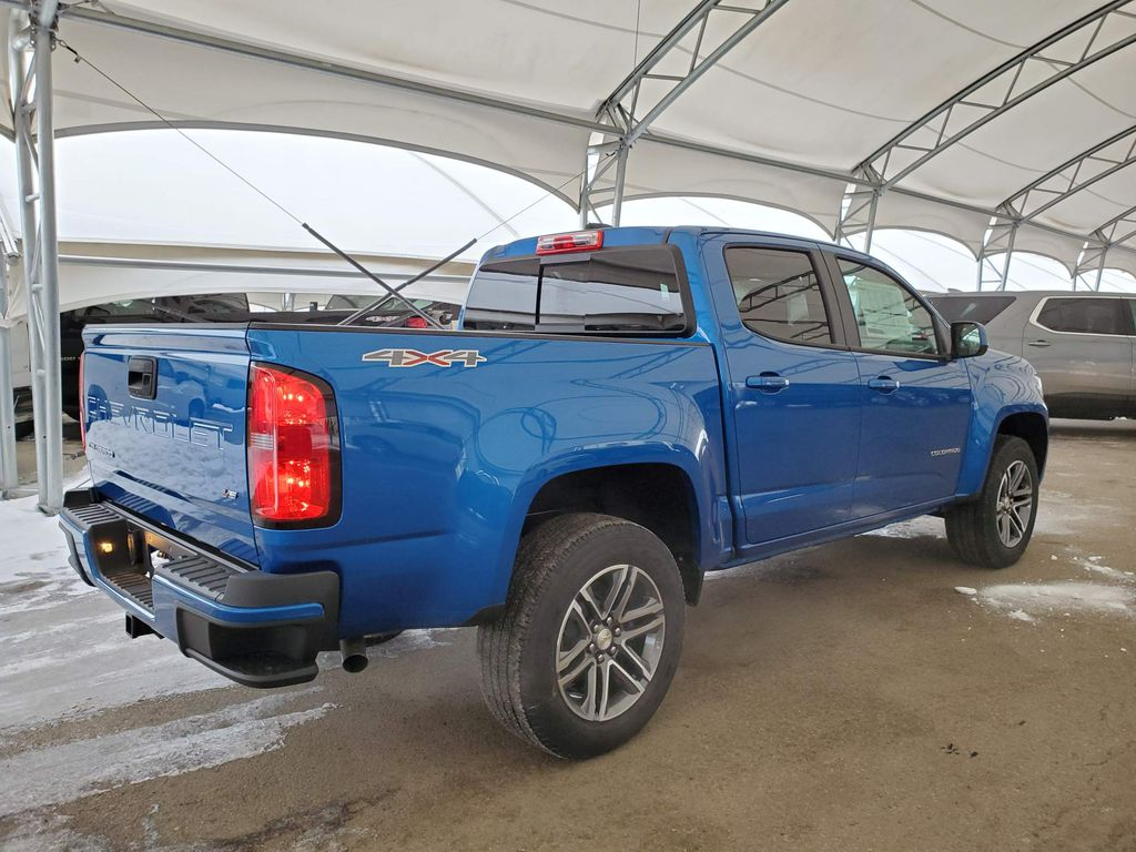 Blue 2021 Chevrolet Colorado Rear of Vehicle Photo in Airdrie AB