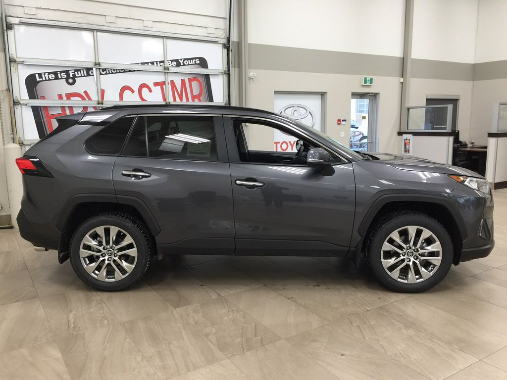 Gray[Magnetic Grey Metallic] 2021 Toyota RAV4 Limited Right Side Photo in Sherwood Park AB