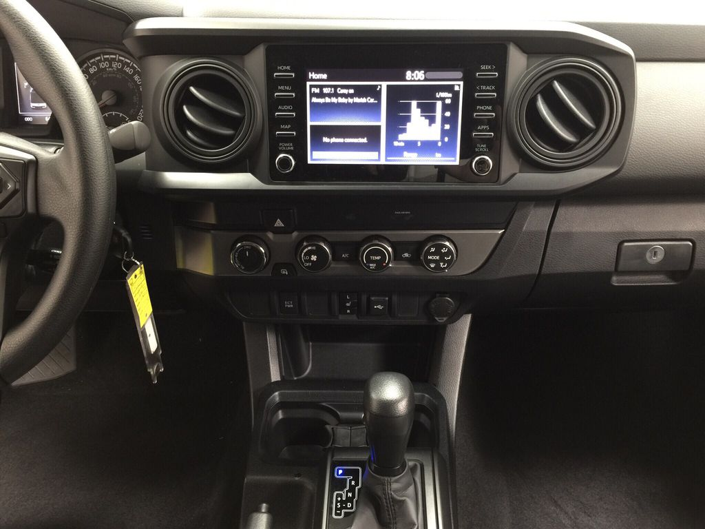 White[Super White] 2021 Toyota Tacoma Central Dash Options Photo in Sherwood Park AB