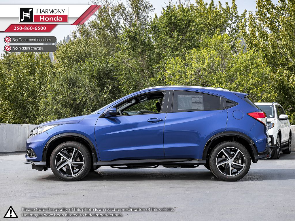 BLUE B-593M 2020 Honda HR-V Left Side Photo in Kelowna BC