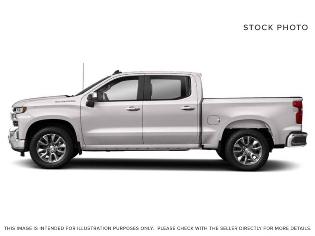 White[Summit White] 2021 Chevrolet Silverado 1500 LT Trail Boss Left Side Photo in Canmore AB