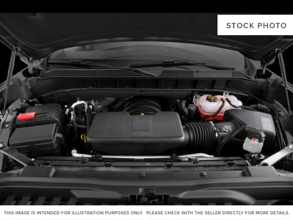 White[Summit White] 2021 Chevrolet Silverado 1500 LT Trail Boss Engine Compartment Photo in Canmore AB