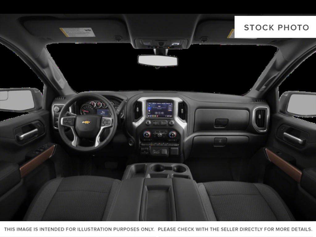 White[Summit White] 2021 Chevrolet Silverado 1500 LT Trail Boss Central Dash Options Photo in Canmore AB