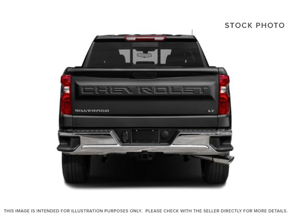 White[Summit White] 2021 Chevrolet Silverado 1500 LT Trail Boss Rear of Vehicle Photo in Canmore AB