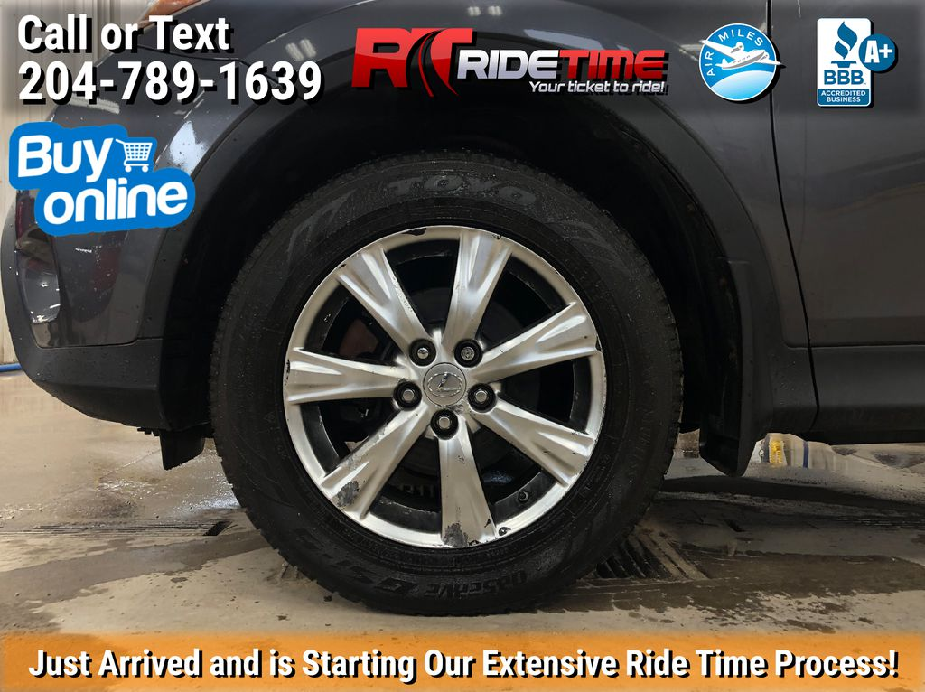 Gray[Magnetic Grey Metallic] 2014 Toyota RAV4 Limited AWD - Leather, Navigation, Sunroof, Alloys Left Front Rim and Tire Photo in Winnipeg MB