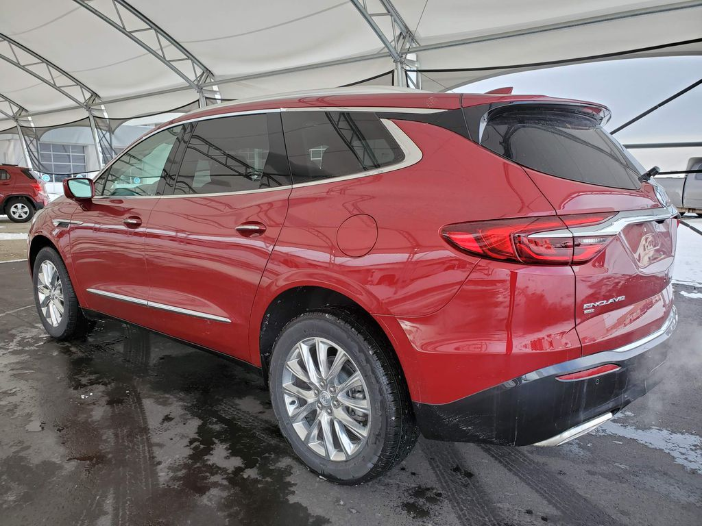 Red 2020 Buick Enclave Strng Wheel/Dash Photo: Frm Rear in Airdrie AB