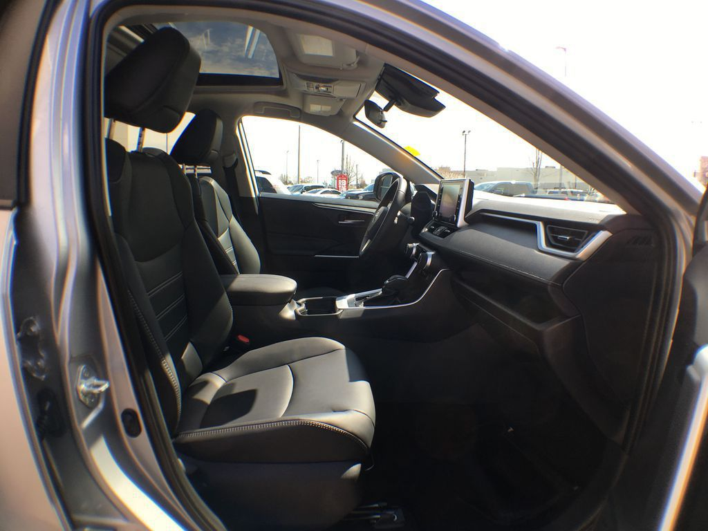 Silver[Silver Sky Metallic] 2021 Toyota RAV4 AWD XLE Premium Package R1RFVT BM Right Side Rear Seat  Photo in Brampton ON