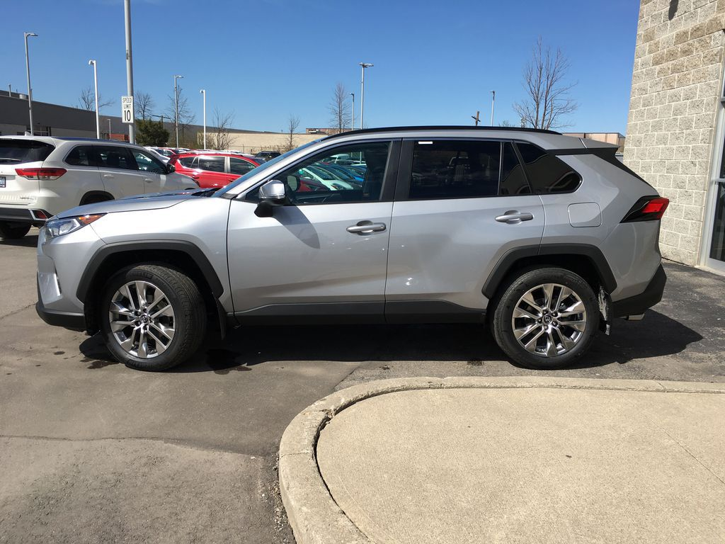 Silver[Silver Sky Metallic] 2021 Toyota RAV4 AWD XLE Premium Package R1RFVT BM Engine Compartment Photo in Brampton ON