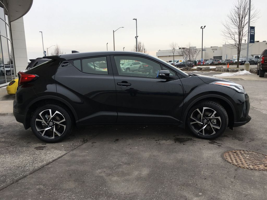 Black[Black Sand Pearl] 2021 Toyota C-HR XLE Premium Package KHMBYC AD Right Side Rear Seat  Photo in Brampton ON