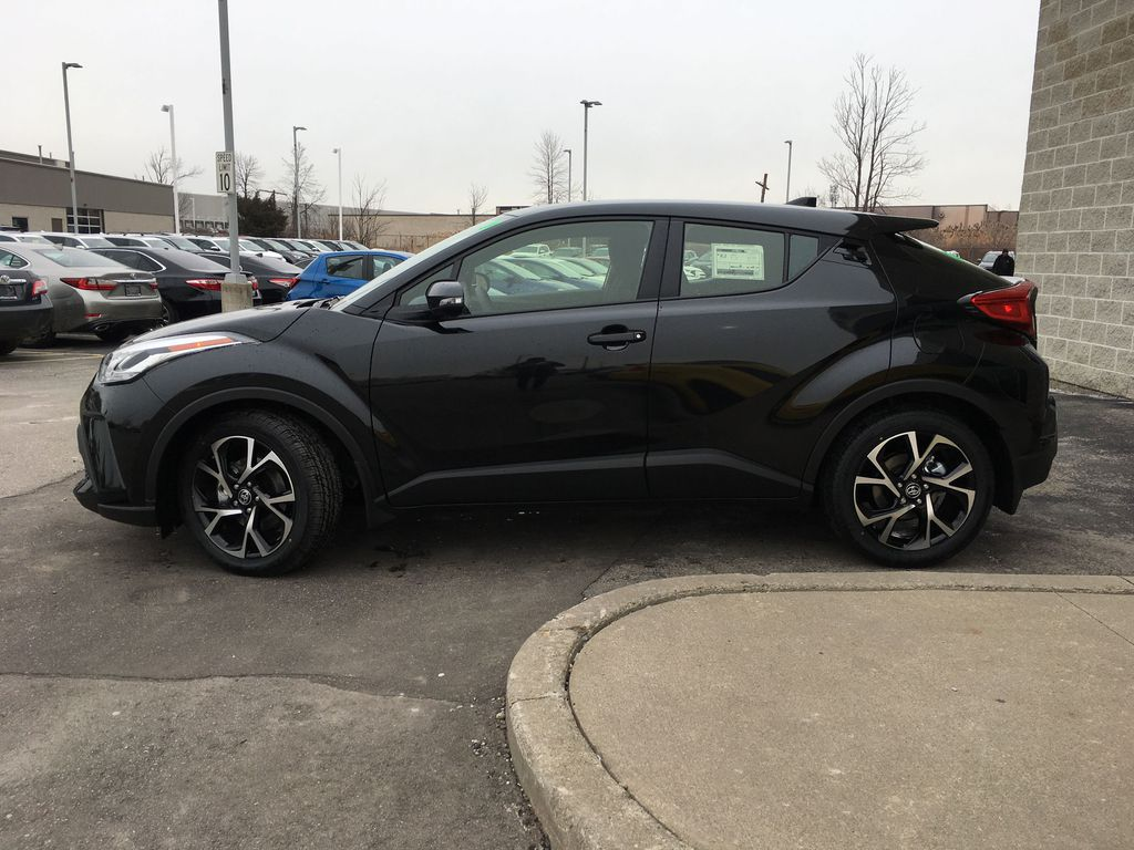 Black[Black Sand Pearl] 2021 Toyota C-HR XLE Premium Package KHMBYC AD Front Vehicle Photo in Brampton ON