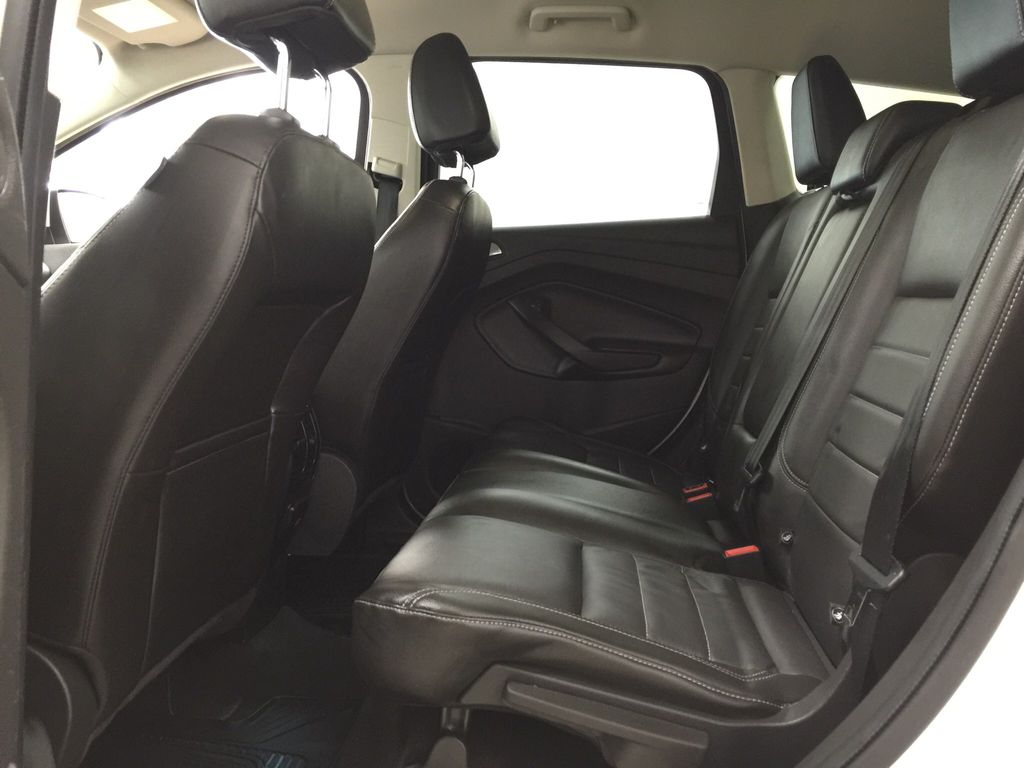 White[White Platinum Tricoat] 2013 Ford Escape SEL AWD Left Side Rear Seat  Photo in Sherwood Park AB