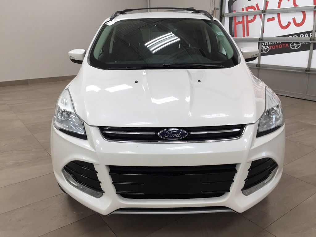 White[White Platinum Tricoat] 2013 Ford Escape SEL AWD Front Vehicle Photo in Sherwood Park AB