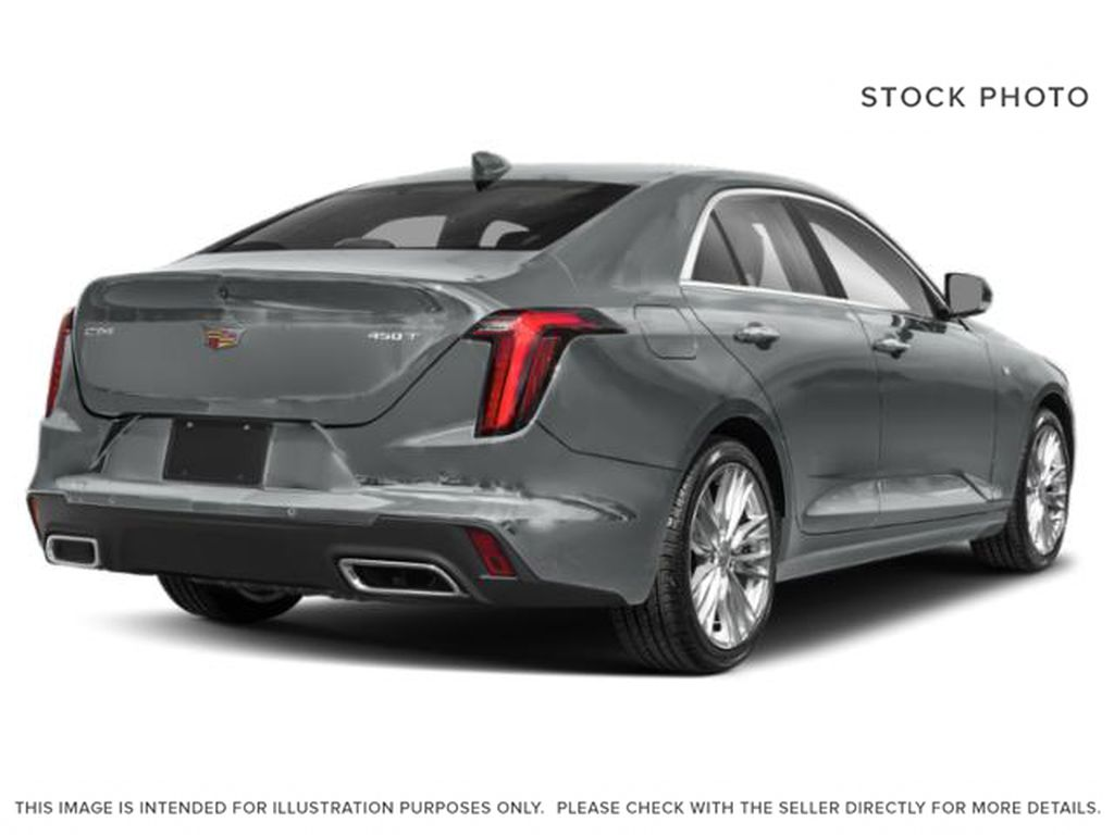 Gray[Satin Steel Metallic] 2021 Cadillac CT4 Right Rear Corner Photo in Edmonton AB
