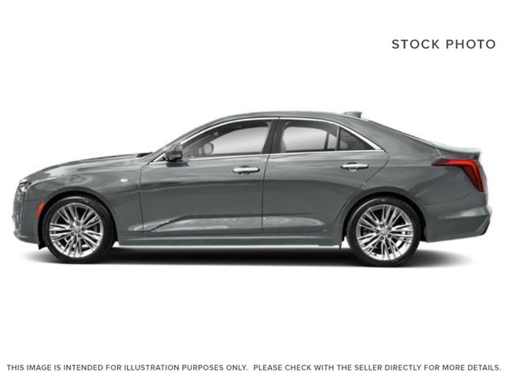 Gray[Satin Steel Metallic] 2021 Cadillac CT4 Left Side Photo in Edmonton AB