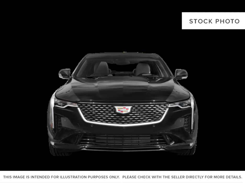 Gray[Satin Steel Metallic] 2021 Cadillac CT4 Front Vehicle Photo in Edmonton AB