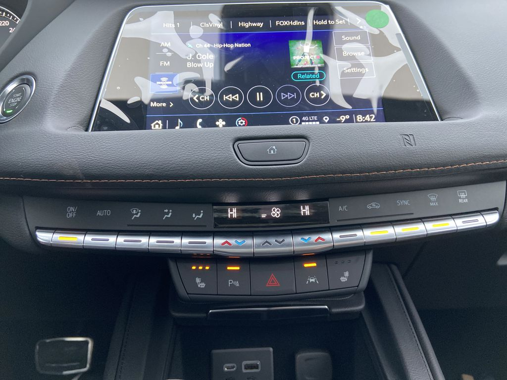 Red[Infrared Tintcoat] 2021 Cadillac XT4 Sport Central Dash Options Photo in Calgary AB
