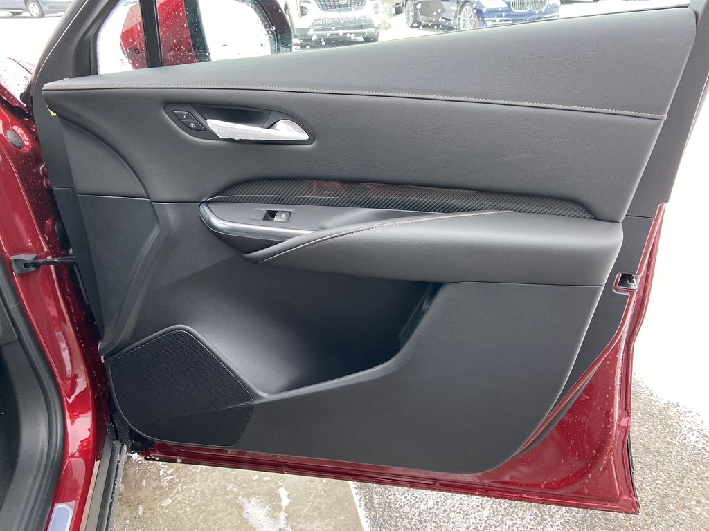 Red[Infrared Tintcoat] 2021 Cadillac XT4 Sport Right Front Interior Door Panel Photo in Calgary AB