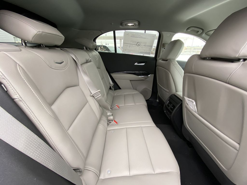 White[Crystal White Tricoat] 2021 Cadillac XT4 Luxury Right Side Rear Seat  Photo in Calgary AB