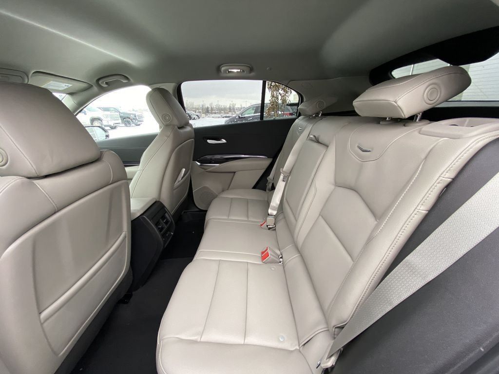 White[Crystal White Tricoat] 2021 Cadillac XT4 Luxury Left Side Rear Seat  Photo in Calgary AB