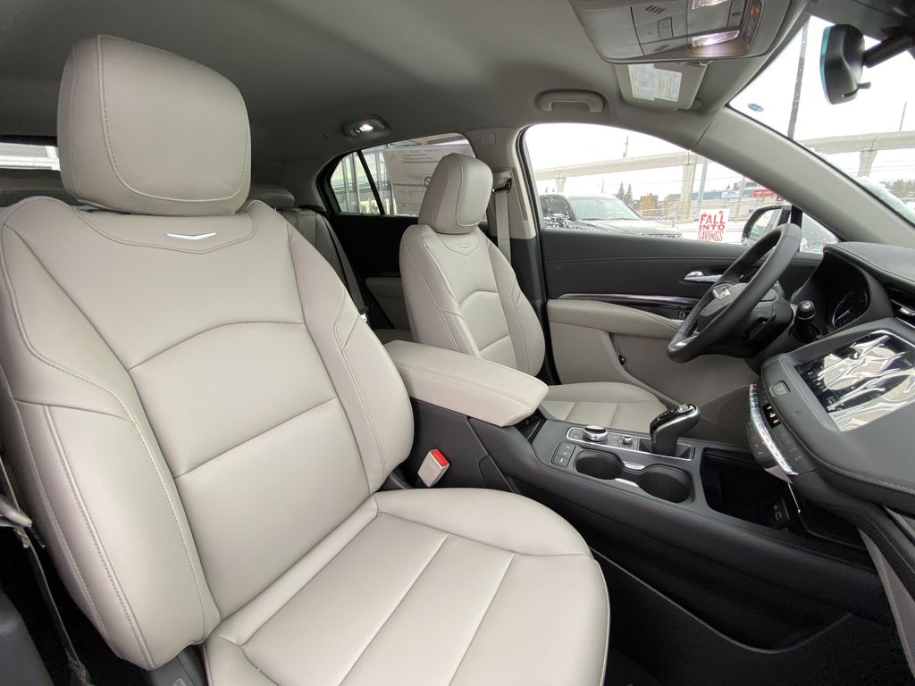 White[Crystal White Tricoat] 2021 Cadillac XT4 Luxury Right Side Front Seat  Photo in Calgary AB
