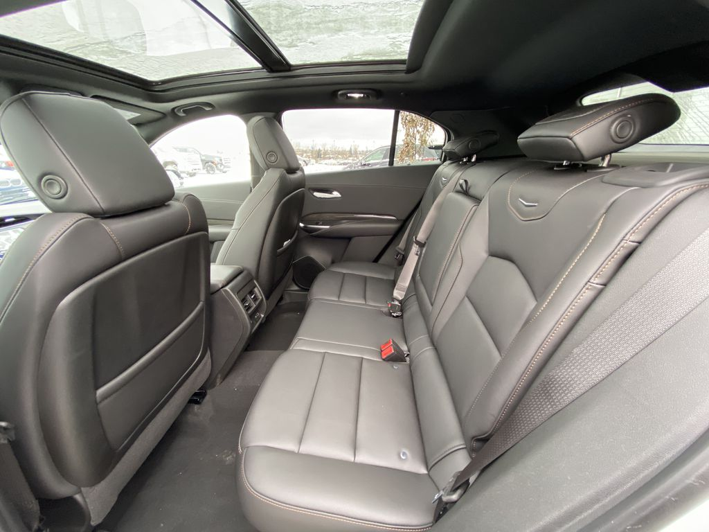 White[Crystal White Tricoat] 2021 Cadillac XT4 Sport Left Side Rear Seat  Photo in Calgary AB