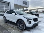 White[Crystal White Tricoat] 2021 Cadillac XT4 Sport Right Front Corner Photo in Calgary AB