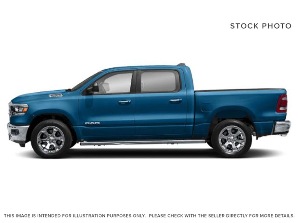Blue[Hydro Blue Pearl] 2021 Ram 1500 Left Side Photo in Cold Lake AB