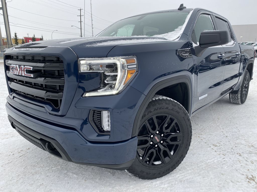 Blue[Pacific Blue Metallic] 2021 GMC Sierra 1500 Left Front Corner Photo in Edmonton AB