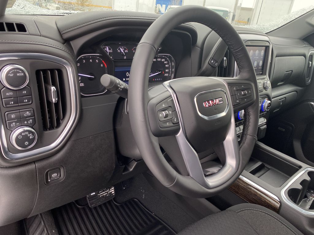 Blue[Pacific Blue Metallic] 2021 GMC Sierra 1500 Steering Wheel and Dash Photo in Edmonton AB